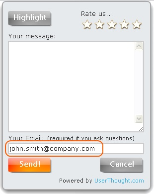 Feedback Form with auto filled-in email
